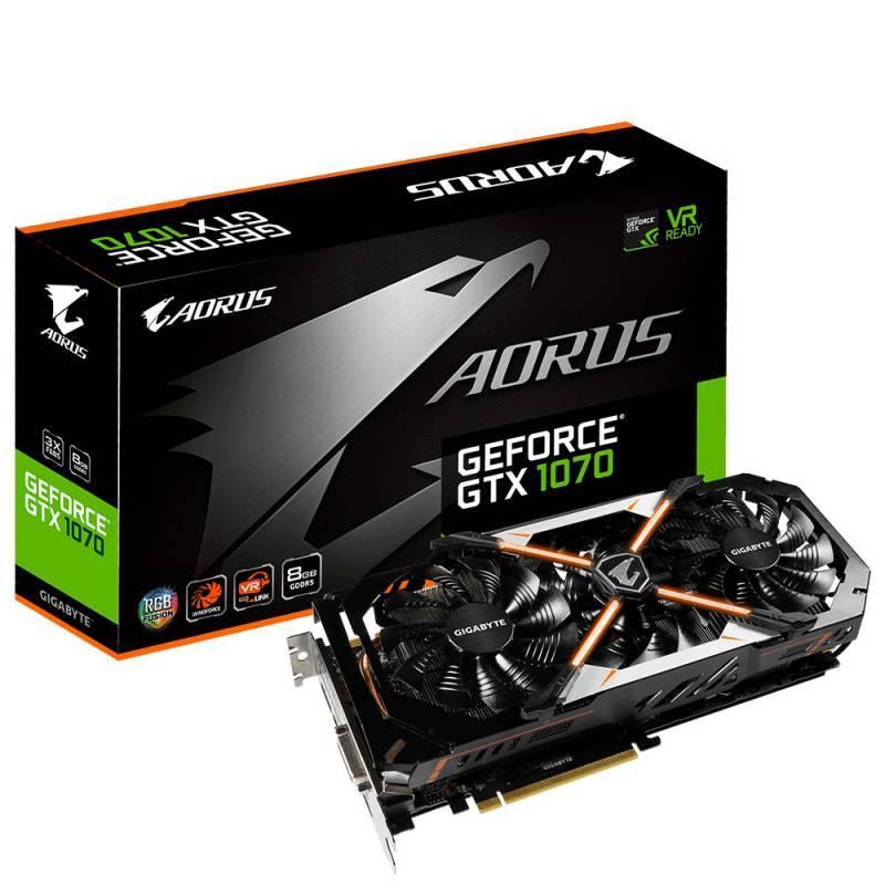 Видеокарта Gigabyte GeForce GTX 1070 AORUS 8192 МБ - фото 1