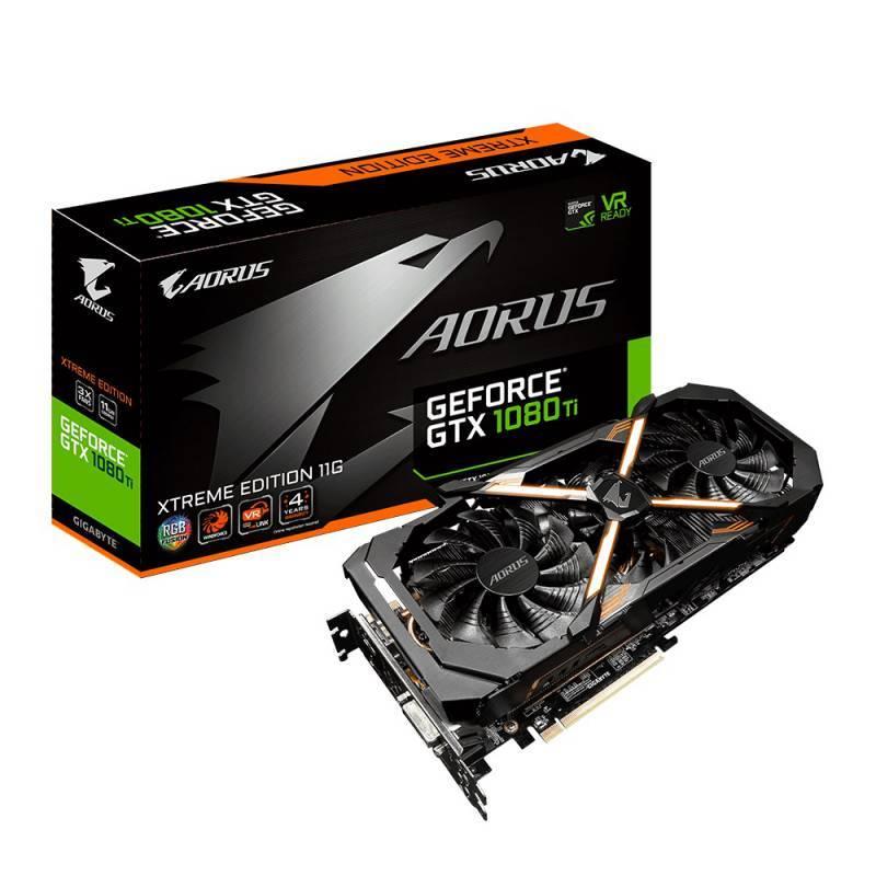 Видеокарта Gigabyte GeForce GTX 1080 Ti AORUS X-11G 11264 МБ (GV-N108TAORUS X-11GD) - фото 1