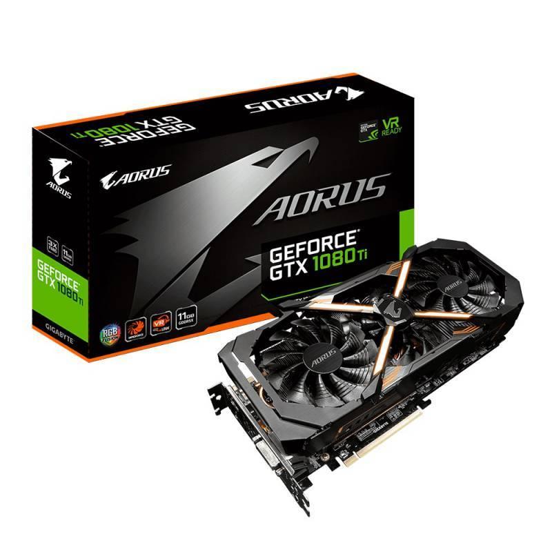 Видеокарта Gigabyte GeForce GTX 1080 Ti AORUS-11G 11264 МБ (GV-N108TAORUS-11GD) - фото 1