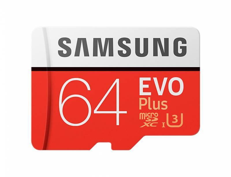 Карта памяти microSDXC 64Gb Class10 Samsung EVO PLUS 2 MB-MC64GA/RU - фото 1
