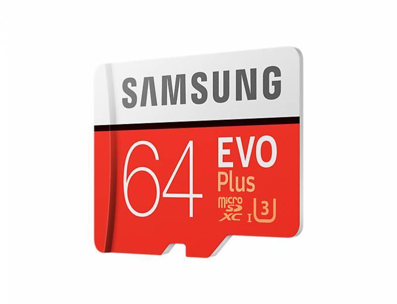 Карта памяти microSDXC 64Gb Class10 Samsung EVO PLUS 2 MB-MC64GA/RU - фото 2