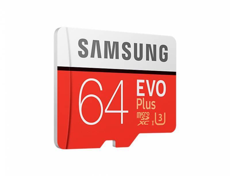 Карта памяти microSDXC 64Gb Class10 Samsung EVO PLUS 2 (MB-MC64GA/RU) - фото 3