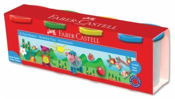 Масса для лепки Faber-Castell, 4 цвета (120048)