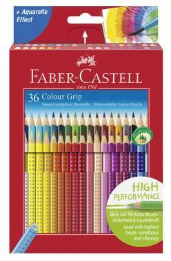 Карандаши цветные Faber-Castell GRIP 2001 112442 36цв.
