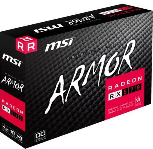 Видеокарта MSI RX 570 ARMOR 4G OC 4096 МБ - фото 2