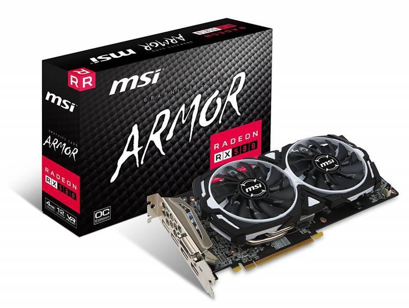 Видеокарта MSI RX 580 ARMOR 4G OC 4096 МБ - фото 1