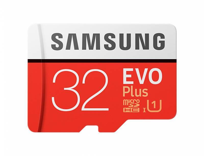 Карта памяти microSDHC 32Gb Class10 Samsung EVO PLUS (MB-MC32GA/RU) - фото 1