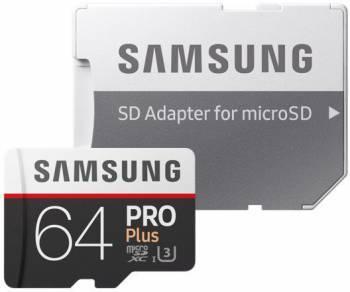 Карта памяти microSDXC 64Gb Class10 Samsung Pro PLUS 2 MB-MD64GA / RU