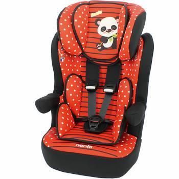 Автокресло детское Nania IMax SP (panda red) красный / рисунок