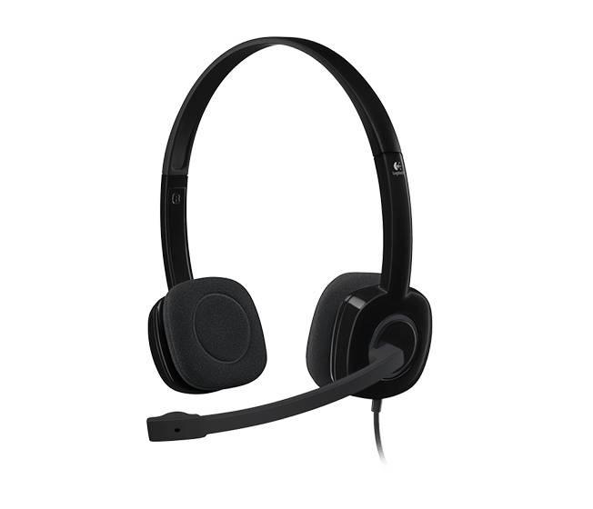 Наушники с микрофоном Logitech H151 черный (981-000589) - фото 1