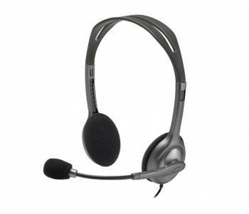Наушники с микрофоном Logitech H111 серый