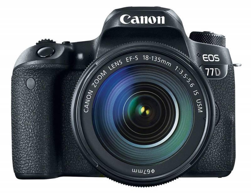 Фотоаппарат Canon EOS 77D черный, 1 объектив EF-S 18-135mm f/3.5-5.6 IS USM (1892C004) - фото 3