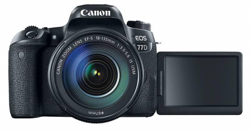 Фотоаппарат Canon EOS 77D черный, 1 объектив EF-S 18-135mm f/3.5-5.6 IS USM (1892C004) - фото 5