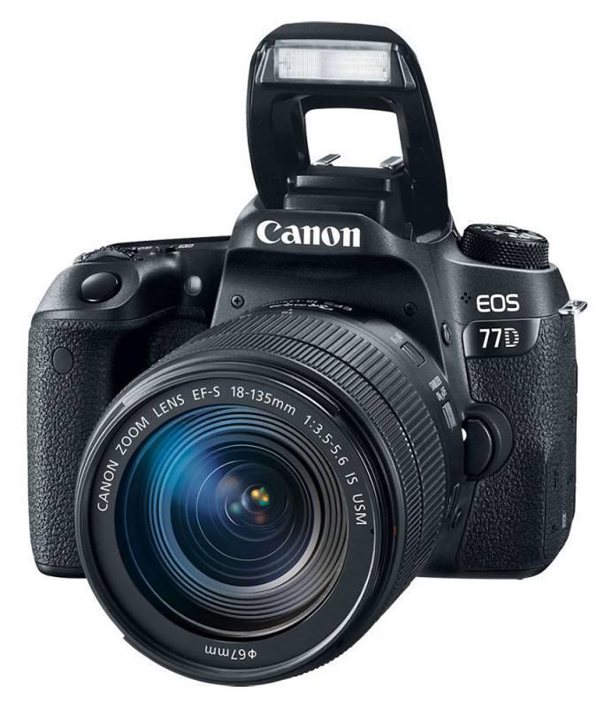 Фотоаппарат Canon EOS 77D черный, 1 объектив EF-S 18-135mm f/3.5-5.6 IS USM (1892C004) - фото 6