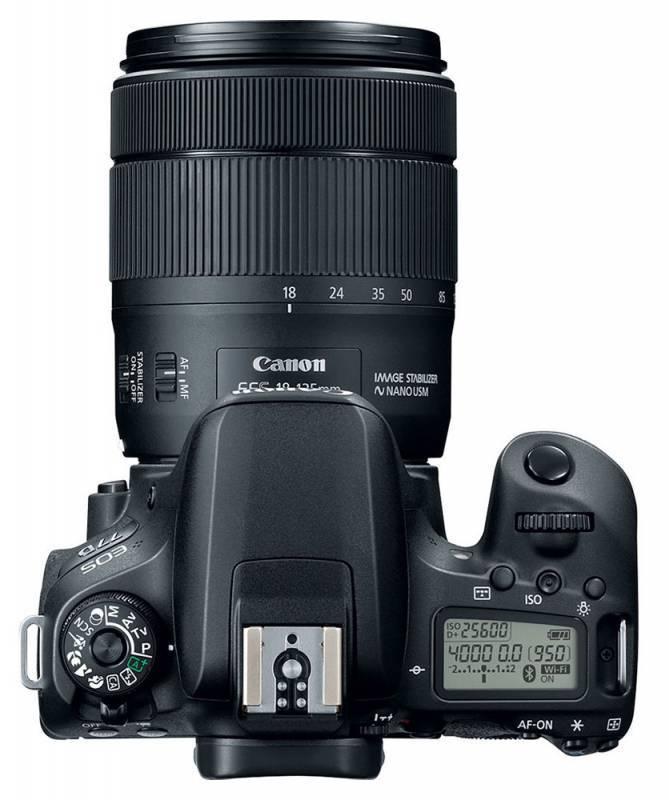 Фотоаппарат Canon EOS 77D черный, 1 объектив EF-S 18-135mm f/3.5-5.6 IS USM (1892C004) - фото 7