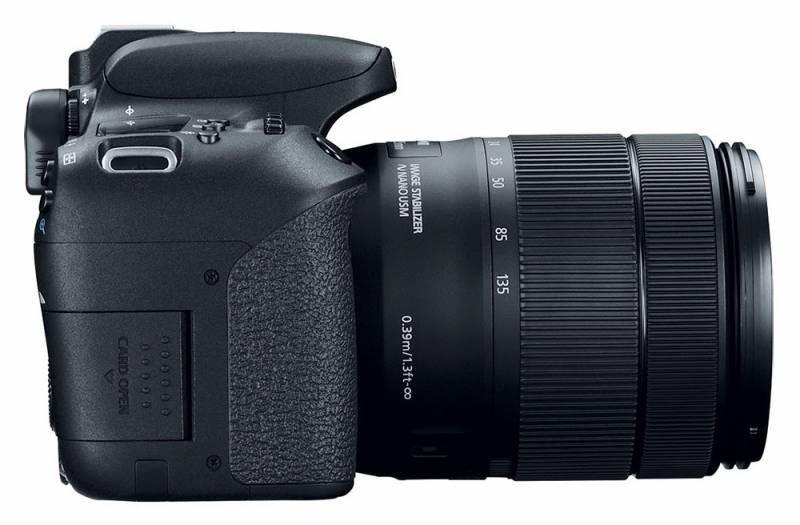 Фотоаппарат Canon EOS 77D черный, 1 объектив EF-S 18-135mm f/3.5-5.6 IS USM (1892C004) - фото 8