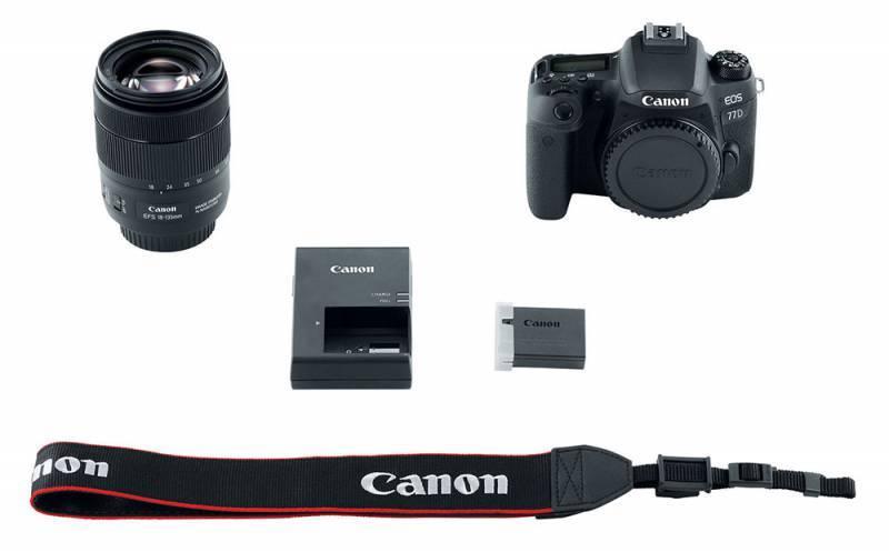 Фотоаппарат Canon EOS 77D черный, 1 объектив EF-S 18-135mm f/3.5-5.6 IS USM (1892C004) - фото 10