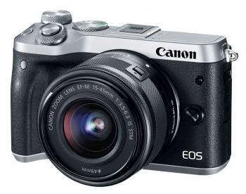 Фотоаппарат Canon EOS M6 kit черный/серебристый (1725C012)