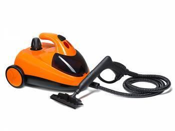 Пароочиститель напольный Kitfort КТ-908-3 оранжевый/черный
