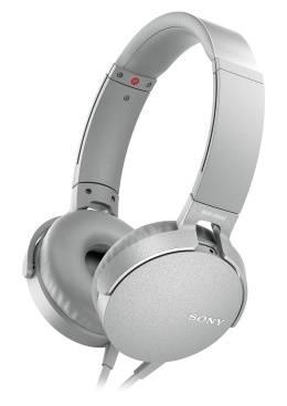Гарнитура Sony MDR-XB550AP белый (MDRXB550APW.E)