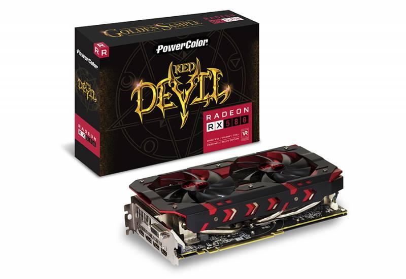 Видеокарта PowerColor Red Devil RX580 8GB GDDR5 Golden 8192 МБ (AXRX 580 8GBD5-3DHG/OC) - фото 1