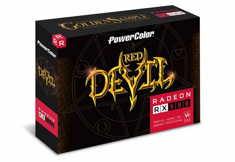 Видеокарта PowerColor Red Devil RX580 8GB GDDR5 Golden 8192 МБ (AXRX 580 8GBD5-3DHG/OC) - фото 2