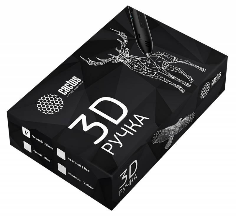 Ручка 3D Cactus CS-3D-LTP2-BK черный - фото 2