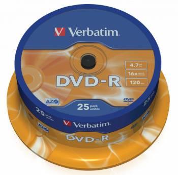 Диск DVD-R Verbatim 4.7Gb 16x (25шт) (43522)