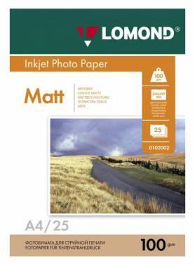 Фотобумага Lomond 0102038 A4 100г/м2 25л. белый
