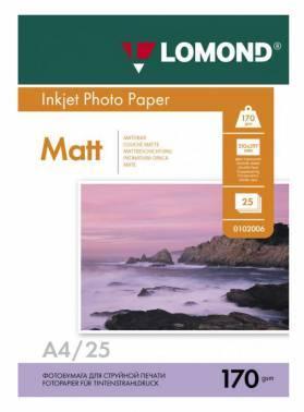 Фотобумага Lomond 0102032 A4 170г/м2 25л. белый