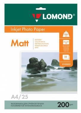 Фотобумага Lomond (0102052) A4 / 200г / м2 / 25л. белый