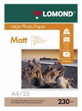 Фотобумага Lomond (0102050) A4 / 230г / м2 / 25л. белый
