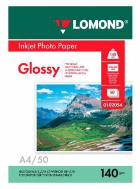 Фотобумага Lomond (0102054) A4 / 140г / м2 / 50л. белый