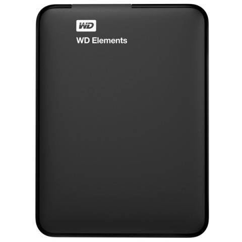 Внешний жесткий диск 1Tb WD Elements Portable WDBUZG0010BBK-WESN черный USB 3.0 - фото 1