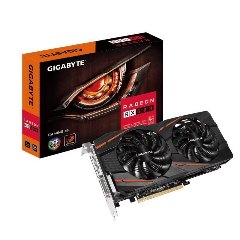 Видеокарта Gigabyte Radeon RX 580 Gaming 4G 4096 МБ (GV-RX580GAMING-4GD) - фото 1