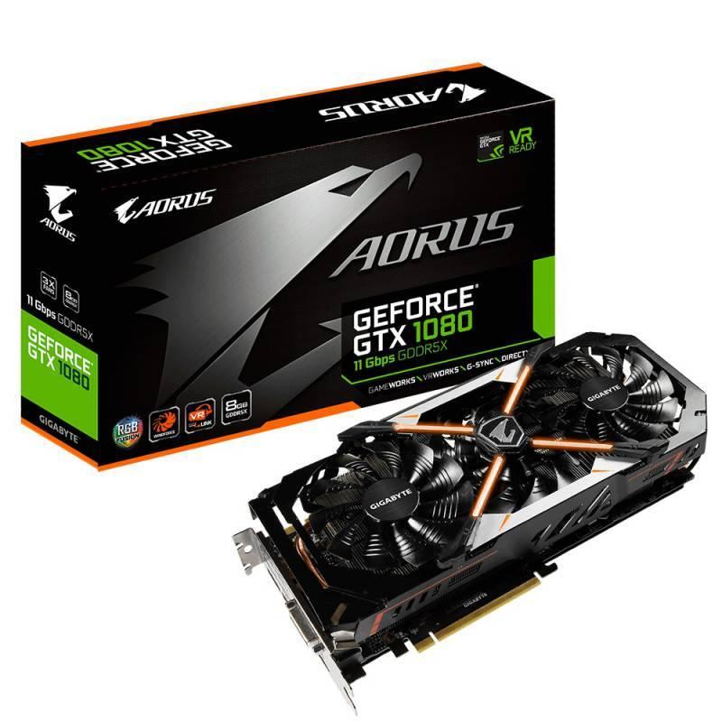 Видеокарта Gigabyte AORUS GeForce GTX 1080 8G 8192 МБ (GV-N1080AORUS-8GD) - фото 1