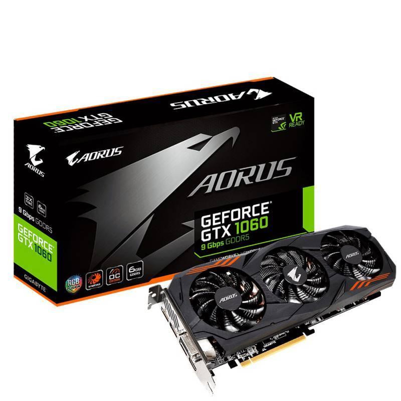 Видеокарта Gigabyte AORUS GeForce GTX 1060 6G 6144 МБ (GV-N1060AORUS-6GD) - фото 1