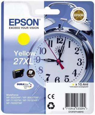 Картридж струйный Epson T2714 желтый (C13T27144022)