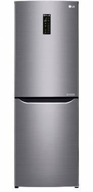 Холодильник LG GA-B389SMQZ серый, двухкамерный, общий объем 312л, размораживание холодильной камеры: Total No Frost, размораживание морозильной камеры: No Frost