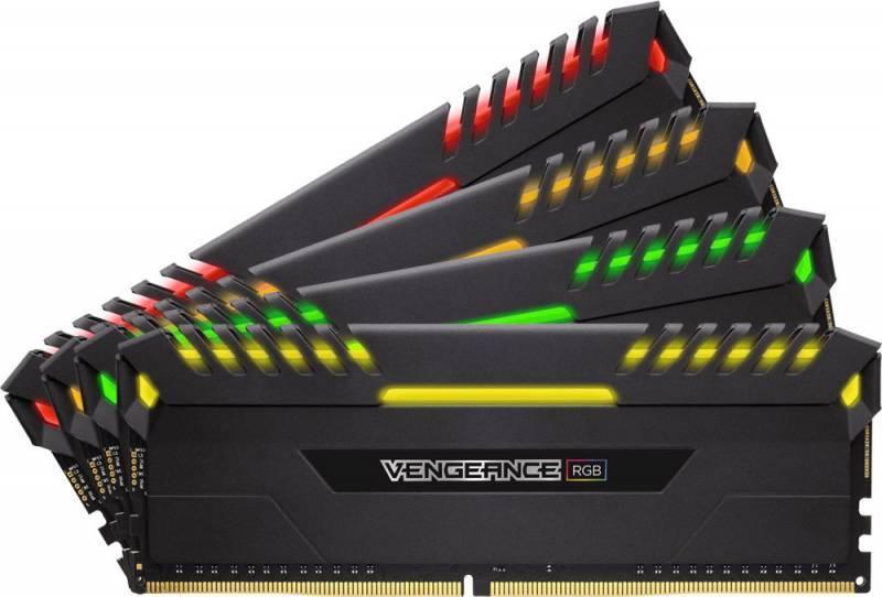 Модуль памяти DIMM DDR4 4x8Gb Corsair (CMR32GX4M4C3000C15) - фото 1