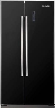 Холодильник Shivaki SBS-550DNFBGl черный / стекло