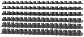 Пружины для переплета пластиковые Deli d=10мм-60лист A4 ассорти (100шт) E3835