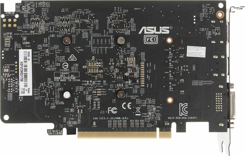 Видеокарта Asus Radeon RX 550 2048 МБ (RX550-2G) - фото 3
