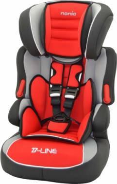 Автокресло детское Nania Beline SP LX (agora carmin) красный / серый