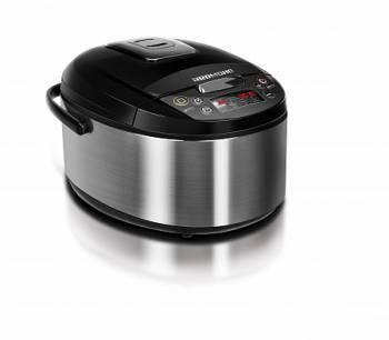 Мультиварка Redmond RMK-M452 черный/серебристый, мощность 1000Вт, объем чаши 5л, покрытие чаши антипригарное керамическое Daikin