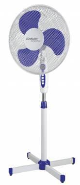 Вентилятор напольный Scarlett SC-SF111B11 белый / голубой
