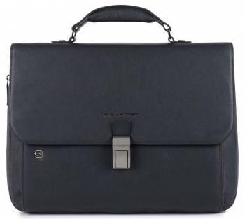 Портфель Piquadro Black Square CA3111B3 / BLU синий натур.кожа