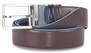 Ремень мужской Piquadro Blue Square черный/коричневый, кожа натуральная (CU2619B2/NMO)