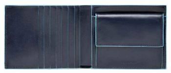 Кошелек мужской Piquadro Blue Square синий, кожа натуральная (PU1239B2R/BLU2)