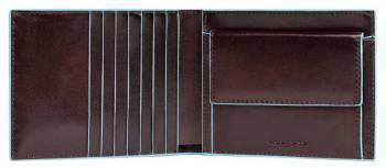 Кошелек мужской Piquadro Blue Square коричневый, кожа натуральная (PU1239B2R/MO)